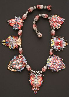 Michael Grove, Flower Necklace, c 1994, polymer clay