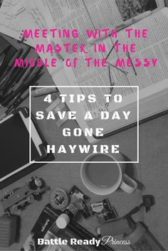 Meeting With The Master In The Middle Of The Messy: 4 tips to save a day gone haywire