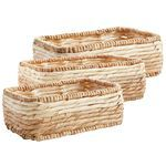 Mila Natural Wicker Oval Baskets