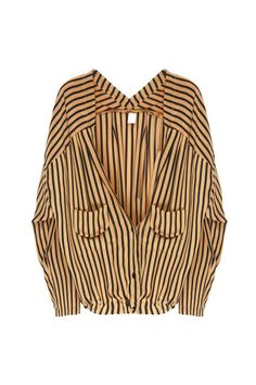 Love the idea of making a blouse look sort of like a cardigan.
