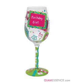 Birthday Girl Lolita Wine Glass