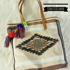"""*HP* {Sam Edelman} N.W.T Tribal Tote Sam Edelman N.W.T Tribal Tote. BRAND NEW WITH TAGS. AUTHENTIC. Tribal Style Print And Bead Work Tote. AMAZING BEADWORK DETAIL.  >MEASUREMENTS  Length: 15 1/2"""" Height:15"""" Width:6 1/2"""" Strap Drop: 10""""  Please Ask Questions Before Purchasing  ALL SALES ARE FINAL  NO TRADES NO PAYPAL  NO HOLDS NO LOW BALL OFFERS Sam Edelman Bags Totes"""