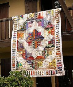 Exotic | Large quilt (2m60x1m80). The pattern is an enlarged… | Flickr