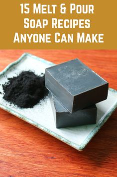 If you are keen to make soap, but a little nervous of the processes involved in making it from scratch, melt and pour soap could be the perfect solution for you. Handmade Soap Recipes, Soap Making Recipes, Diy Soap And Shampoo, Shampoo Bar, Glycerin Soap, Castile Soap, Soap Melt And Pour, Coffee Soap, Honey Soap