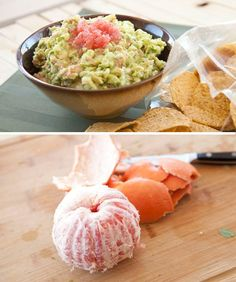 Grapefruit Guacamole |  Limes are the typical go-to citrus for most guacamole recipes, but grapefruit adds a really nice, tart tang that complements the creamy avocado. Plus, the extra pop of color makes a festive addition to any spread.