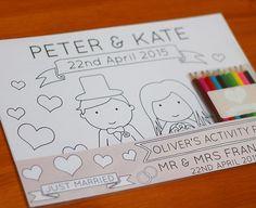 Personalised Wedding Children's Activity Pack