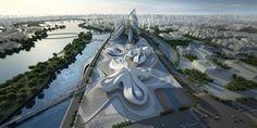 zaha hadid: changsha meixihu international culture and art center