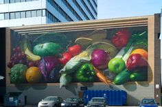 """Watch out for falling fruits and veggies.  """"Fresh Harvest"""" designed by Jonathan Queen Photo courtesy of ArtWorks Cincinnati"""