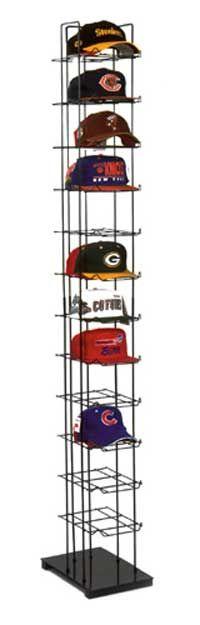 Closet for him: Cap Rack - Baseball Cap Tower<br> Diy Hat Rack, Hat Hanger, Baseball Hat Racks, Baseball Caps, Cowboy Hat Rack, Hat Storage, Storage Ideas, Cap Rack, Hat Shelf