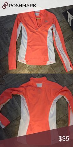 North Face Athletic Jacket XS Orange running yoga Super awesome comfy light weight jacket that is great for all activities. Never dried always washed in cold very well taken care of The North Face Tops Sweatshirts & Hoodies