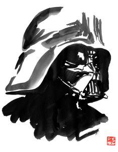 À l'occasion de la sortie de Vader immortal 3 Voici un petit Vador Here is a little Vader on the occasion of the release of Vader Immortal 3 Sumi E Painting, Movie Characters, Fictional Characters, Cinema, Star Wars, Batman, Darth Vader, Ink, Superhero