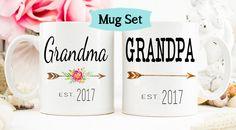 Pregnancy Reveal to Grandparents mug, New Grandparents, Baby Announcement, Grandparent Mug, New Grandparent gift, Grandma mug by WeefersGifts on Etsy