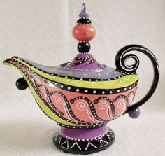 Whimsical Teapot by Cybill Ceramics
