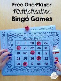 single-player multiplication bingo games Use these free printable multiplication games to help kids in and grade master their basic facts!Use these free printable multiplication games to help kids in and grade master their basic facts! Math Bingo, Multiplication Activities, Math Activities, Bingo Games, Free Games, Math Fractions, Numeracy, Multiplication Worksheets, Card Games