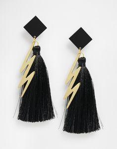 Image 1 ofSuzywan DELUXE Zig Zag Tassel Earrings