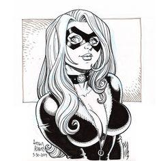 Black Cat by Arthur Adams Comic Art Spiderman Black Cat, Black Cat Marvel, Spiderman Art, Black Cat Comics, Black Cat Art, Black White Art, Comic Book Artists, Comic Artist, Comic Books Art