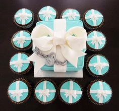 Tiffany and Co. cake and cupcakes