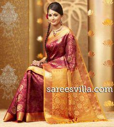 kerala wedding saree Red Saree, Bollywood Saree, Maroon Saree, Chennai, Anushka Shetty Saree, Kanchipuram Saree, Banarasi Sarees, Pure Silk Sarees, Wedding Sarees