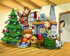 Todas las ilustraciones son de Subi y pertenecen al libro Festes i tradicions de tot l'any. El costumari per a totes les edats, escrito por Elena Ferro, editado por Baula.