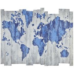 World Map on Wood Planks | Pier 1 Imports