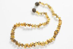 Baltic Amber Baby Teething Necklace Raw Amber by LuxuryBalticAmber, $9.41