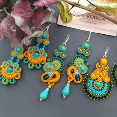 Just finished my colorful jewelry collection. If you looking for someone bright and bold.i think you find it 😍😍😍 Fabric Jewelry, Jewelry Art, Jewellery, Fashion Bracelets, Fashion Jewelry, Earrings Handmade, Handmade Jewelry, Earring Trends, Soutache Jewelry