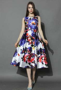 Watercolor Floral Prom Dress - New Arrivals - Retro, Indie and Unique Fashion