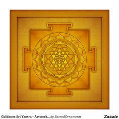 Goldenes Sri Yantra - Artwork II Poster