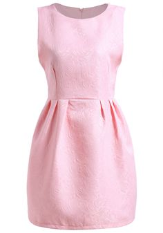 Shop Pink Round Neck Sleeveless Jacquard Dress online. SheIn offers Pink Round Neck Sleeveless Jacquard Dress & more to fit your fashionable needs.
