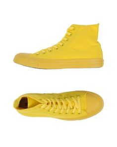 CONVERSE ALL STAR Women s High-tops  amp  sneakers Yellow 9.5 US Yellow  Sneakers d1af8dd32