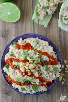 """Interesting & Odd.  I am not sure that I will do this again. Since I had to use coconut yogurt maybe it was less """"full flavored""""?  Not awful, just not sure it's a go-to meal.                          Thai Salmon Salad"""