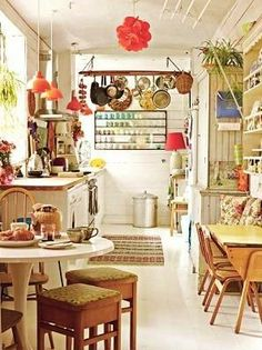 kitchen in Antiques Dealer's Colorful Home