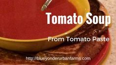 How To Make Tomato Soup From Tomato Paste