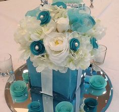 Bridal Shower Sweet 16 Set of 10 Tiffany by SilkFloralsbyCandice, $400.00