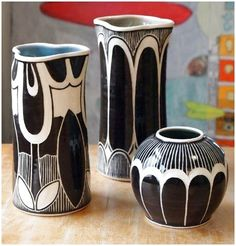 rachel depauw incredible sgraffito work art nouveau motifs pottery ceramics clay by terrie click now for more info. Pottery Painting, Ceramic Painting, Pottery Vase, Ceramic Pottery, Painted Ceramics, Sgraffito, Ceramic Decor, Ceramic Clay, Ceramic Plates