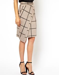 Image 4 ofASOS Pencil Skirt with Wrap in Check