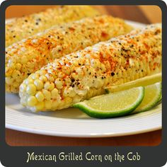 Best corn on the cob ever! Mexican Grilled Corn on the Cob—Low calorie, low carb, and a perfect side dish for Cinco de Mayo! I Love Food, Good Food, Yummy Food, Yummy Treats, Mexican Grilled Corn, Great Recipes, Favorite Recipes, Yummy Recipes, Mexican Side Dishes
