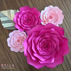 "Loving the colors our client requested. This set includes one 16-17"" rose with 3 small roses. It can be found in our Etsy shop.  1 spot left for May, 1 spot left for June. 🌷This is a great alternative to our larger sets which are booked until July 2017.  #backdrop #desserttable #paperflower #love #dessertbackdrop #paperflowers #paperart #bridalshower #etsy #etsysuccess #pinkandgold  #babyshowerbackdrop #floralart #picoftheday #makeitwithmichaels #everydayibt #flowers #oc #trendybride…"
