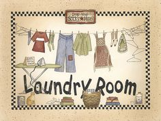 Cute for laundry room!