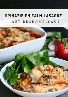 Zalm lasagne met spinazie en bechamelsaus - Beaufood