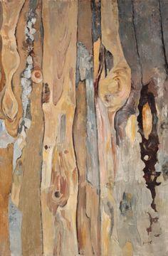 Leopold Hauer, HOLZWAND, um 1976, WV 2177, Öl auf Hartfaser, 90 x 59 cm Painting, Art, Wood Wall, Painting Art, Paintings, Kunst, Paint, Draw, Art Education