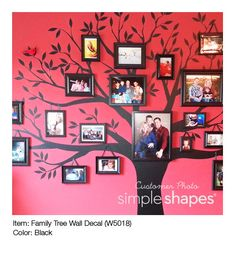 Family Tree Wall Decal: Customer Photos. #SImpleShapes