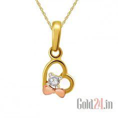 Buy Cygnus Gold Pendant with Diamond, 859899