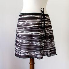 Ballet skirt of custom fabric - soft silk material. This skirt looks AMAZING over leggings in the studio and on the street!