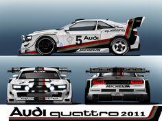 Artwork: Audi quattro Concept in Rally style