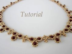 This PDF tutorial Necklace Leuviah seed beads SWAROVSKY pearls is just one of the custom, handmade pieces you'll find in our tutorials shops. Beaded Necklace Patterns, Lace Necklace, Seed Bead Necklace, Seed Bead Jewelry, Bead Jewellery, Bracelet Patterns, Wire Jewelry, Beaded Bracelets, Seed Beads