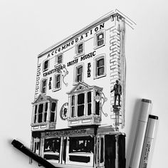 A loose study of this seminal Irish pub in the heart of Dublin's Temple Bar. Will be doing a full colour version. . . . . . #arqsketch #archisketcher #urbansketchers #archisketch #sketch #architecturedrawing #sketchlikeanarchitect #illustration #architecturalillustration #architecturalillustrations #daily_sketch #archiholic #global_sketchers #artistsofinstagram #allofsketches #pencildrawing #sketching #urbandrawing #dailydrawing #buildingsketch #sketchoftheday #sketchdaily #handdrawn…