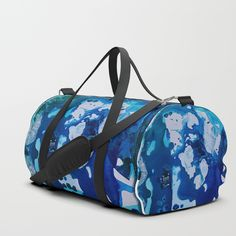 Orca Whale Marvels at the Melting Ice, Environmental # 4 Duffle Bag by ANoelleJay | Society6