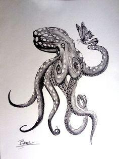 Bildergebnis für kraken and ship tattoo