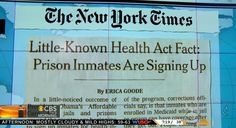 NBC and ABC Skip News That Prisons Will Now Be Enrolling Inmates Under ObamaCare  ~ huh? is this legit?